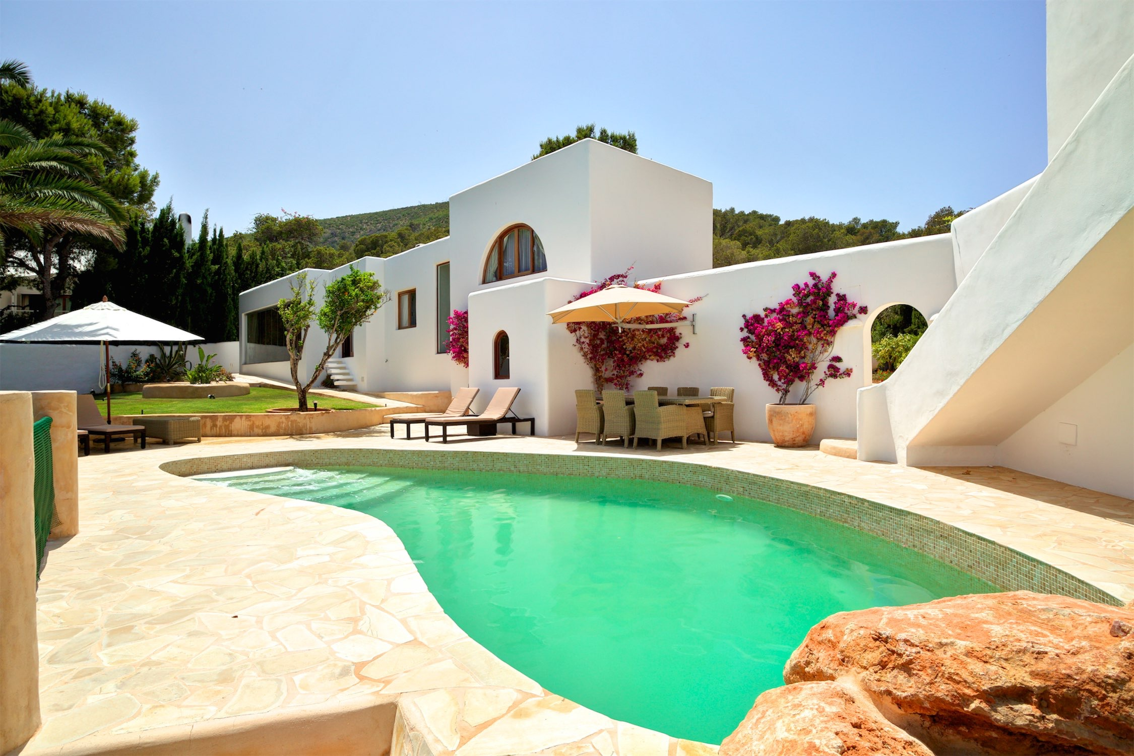 Luxury ibiza villa incredible front line sea views a for Villas ibiza